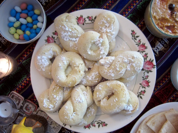 Greek Easter cookies – excellent with coffee.