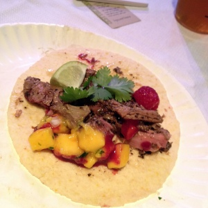 Jamaican jerk pork taco from Outer Spice