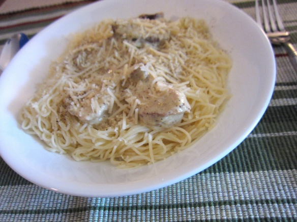 Lemon Garlic Pasta with Grilled Chicken